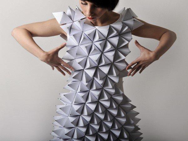Origami ile yapılmış tekstil tasarımları