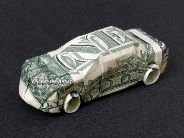 Para ile yapılmış origami tasarımları