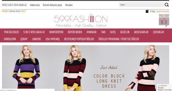 599Fashion Web sitesi
