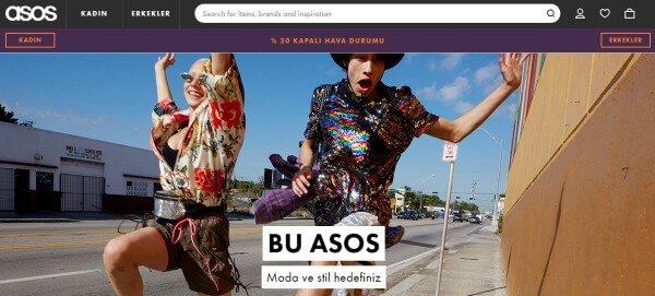 Asos web sitesi