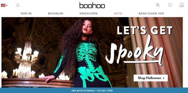 Boohoo web sitesi
