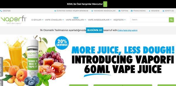 Vaporfi sitesi üzerinden kaliteli elektoronik sigara ürünlerine sahip olabilirsiniz.30 gün iade garantisi sunmaktadır.