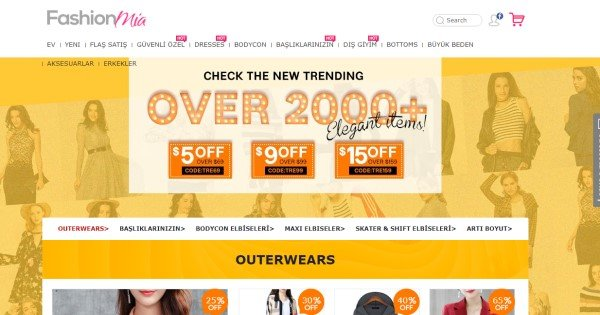 İnternetten en ucuz giyim alışverişi yapabileceğiniz sitelerden birisi.