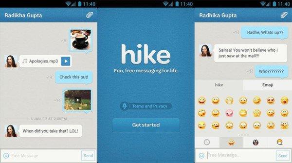 hike messenger bedava internet veren uygulamalar