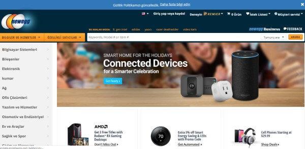 Newegg Amerika da en çok kullanılan alışveriş sitelerinden birisi.