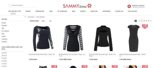 Sammy Dress sitesi en uygun giyim alışverişi yapabileceğiniz sitelerden birisi.