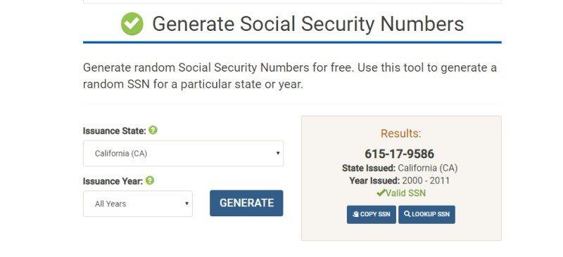 Paypal ssn numarası