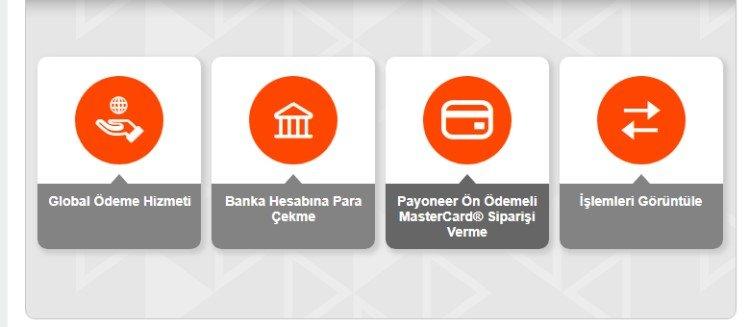 payoner mastercard siparişi