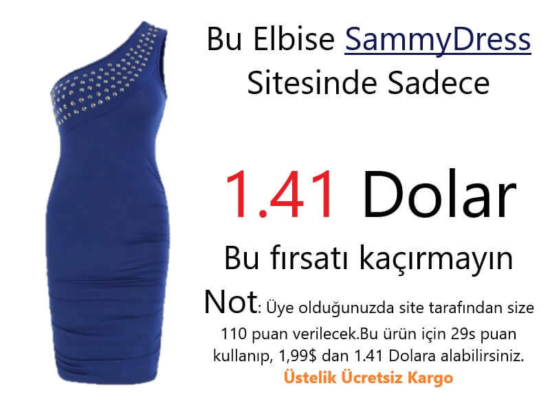 Sammy dress sitesinde yer alan bu kampanya ile ilgili yaptığım çalışmada 5 dolarlık reklam ile 20 dolar kazandım.Evde Para Kazanma Yolları...