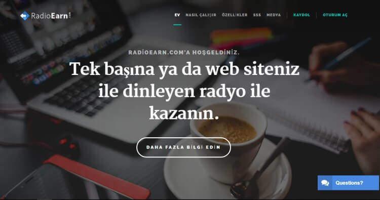 RadioEarn Para Kazanma