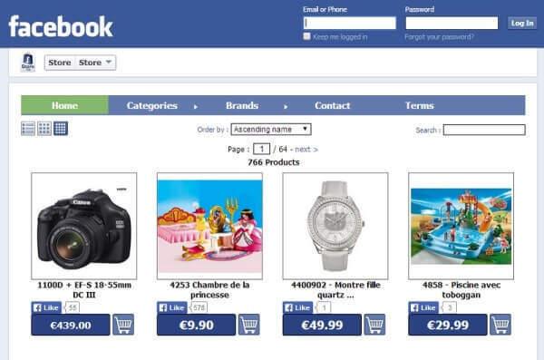 facebookta mağaza açmak